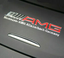 1 x AMG  Mercedes Benz chrome sticker logo alu sticker emblem lettering 3D