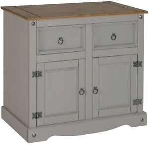 Corona Sideboard 2 Door Grey Wax Dining Room Solid Pine by Mercers Furniture®