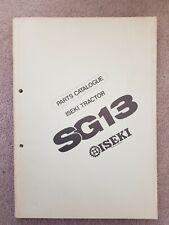 ISEKI SG13 TRACTOR PARTS CATALOGUE
