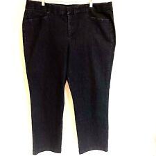 JM Collection Womens Denim Jeans Petite Plus 22 WP Dark Wash Straight Leg