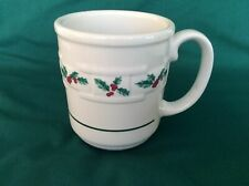 Longaberger Christmas Holly Berry Woven Traditions Pottery Mug - Pre-Owned