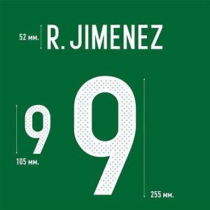 Jimenez 9. Mexico Home football shirt 2016 2017 FLEX NAMESET NAME SET