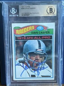 Dave Casper 1977 Topps signed/auto - BAS - Notre Dame Collection