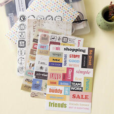 6 Sheets Paper Sticker Scrapbook Calendar Diary Planner Gift DIY Decor Retro