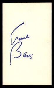 Ernie Banks Index Card Auto Autograph *1