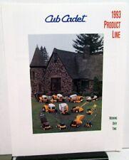 1993 Cub Cadet Product Line Dealer Sales Brochure Folder Tractors Mowers & More
