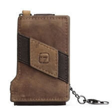 Men Leather Wallet Multi Card Holder Chain Genuine Style Crazy Horse Leather New
