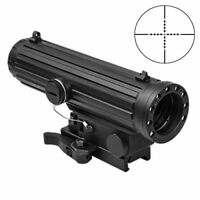 NCSTAR VHLO434GB LIO 4X34 URBAN TACTICAL BLUE ILL SCOPE NAV LED LIGHT QR w/BUIS