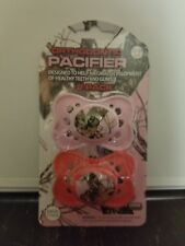 Orthodontic Pacifier 2pk camo pink & peach Mossy Oak  0-6 m. *FREE SHIPPING*