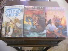 THE LIVESHIP TRADERS Trilogy, Robin Hobb, all SIGNED 1st ed/1st prints, HCDJ