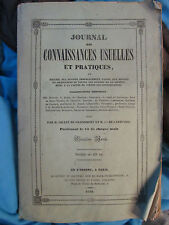 JOURNAL DES CONNAISSANCES USUELLES, année 1842 (agriculture, horticulture, vin.)
