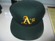 NWOT Orig 90s Green OAKLAND A's Yellow A Hat 6 3/4 New Era 5950 Dead Stock