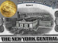 1921 * STAZIONE CENTRALE NEW YORK * LA PIU' GRANDE AL MONDO * BOND IN ORO 5%  °°