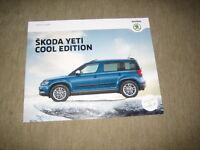 Skoda Yeti Cool Edition Prospekt Brochure von 4/2016, 16 Seiten