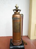"""Antic Original Lamp Stand made from Old American Fire Extinguisher - 29"""" Tall"""