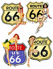 Sexy Pinup Girl Waterslide Decal USA Route 66 Great for Smooth hard surface #276