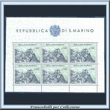 1958 San Marino Foglietto Veduta n. 18 Nuovo Integro **