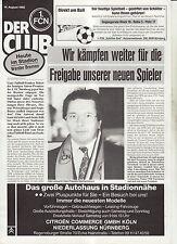 BL 92/93  1. FC Nürnberg - SV Werder Bremen (Der Club)