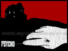 Original Psycho Art Print Poster Alfred Hitchcock The Birds Horror Bates Motel
