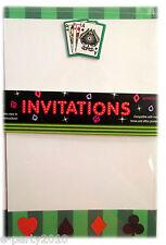 Printable Casino Invitations (10) ~ Poker Night Vega Poker Nights Party Supplies