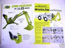 12 Piece Older Construction Literature Asst Euclid, Terex, Ware Cheap!