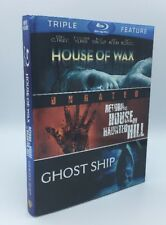 House of Wax, Return to House on Haunted Hill, Ghost Ship (Blu-ray, 2012, 3-Disc