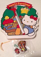 Sanrio Puroland Hello Kitty Vtg Diecut Notepad Pen Eraser & Rare Trinket 1990