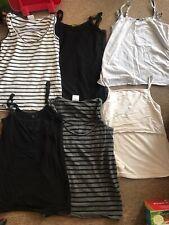 Bundle Of 6 Maternity Nursing Vests Sleeveless T Shirt Tops Uk 10 - 12