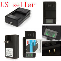 Mobile Universal Battery Charger LCD Indicator Screen For Cell Phones *USB-Port*