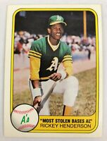 1981 Fleer Rickey Henderson #351 NM+