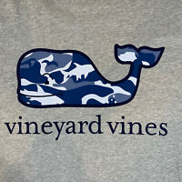 Vineyard Vines Men's L/S Pocket T Shirt Gray Camo Whale Fill Sz XL- NEW TAGS