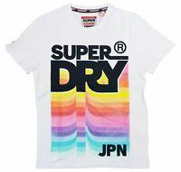 Superdry Short Sleeve Crew Neck Logo Graphic Print JPN T-Shirt Large NWT Optic