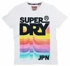 Men's Superdry Retro Mid Weight Tee M10994AT Optic Size XL