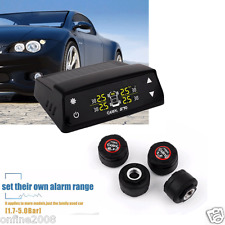 Wireless Car TPMS Tyre Tire Pressure Monitoring System Gauge+4 Wireless External