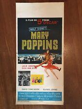 LOCANDINA, MARY POPPINS, WALT DISNEY, Julie Andrews,Van Dyke,RANK FILM 1966