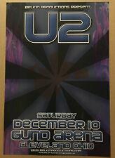 U2 Rare 2005 Promo Concert Gig Tour Card Stock Poster 13x19 Mint Cleveland Ohio