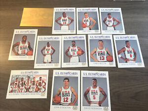 1992 US OLYMPIC CARD DREAM TEAM-Jordan,  BIRD, MAGIC 11 Card Set Gold Hologram