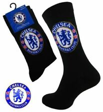 1 Pair Mens Black Chelsea FC Official Football Club Dress Socks Size 6-11