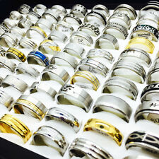 Wholesale 50pcs Top Mix Styles Stainless Steel Rings for Men Women Wedding Bands