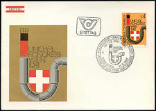 Austria 1981 a larga distancia Calor Distribuidor Fdc Primer Día cubierta #c 17743