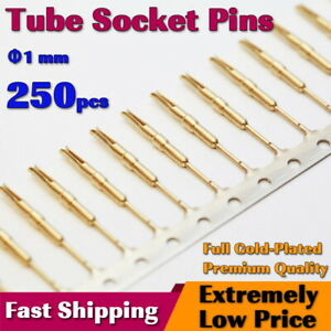x250 Nixie/VFD Tube Socket Pins(1mm) Gold Plated IN-12 IN-18 Contact for Clock