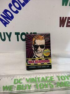 1986 Topps Max Headroom Unopened(1) Wax Pack Cards Foil Sticker Matt Frewer RARE