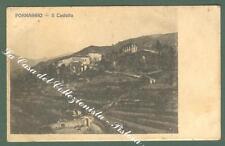 Liguria. PORNASSIO, Imperia. Il Castello. Cartolina d'epoca viaggiata nel 1912.