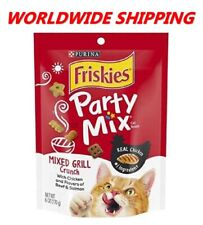 Purina Friskies Party Mix Cat Treats Mixed Grill Crunch 6 Oz WORLDWIDE SHIPPING