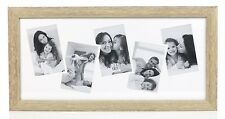 Sixtrees Jay Natural Wooden 6 x 4 Landscape 5 Picture Collage Photo Frame Gift