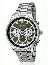 Sekonda Men's silver stainless steel Elegant chronograph quartz Watch N3494