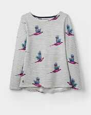 Joules Cream Painted Pheasant Stripe Harbour Print Long Sleeve Top Size 16