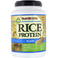 NutriBiotic Raw Rice Protein Plain  1 lb 5 oz 600 g Egg-Free, Gluten-Free,