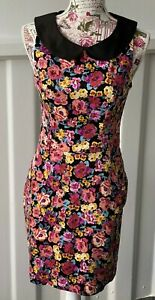 """""""REVIEW"""" SIZE """"10""""LADIES PRETTY FLORAL MIX DRESS WITH POCKETS***"""