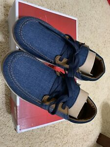 Crocs Santa Cruz Playa Lace up Shoes Blue Canvas Mens 8 New Other